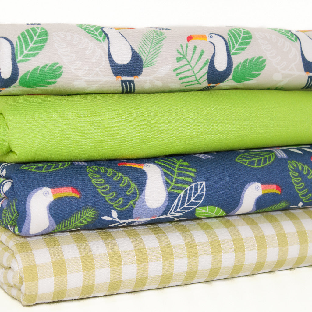 Fat Quarter Bundle - Toucans - Polycotton Fabric