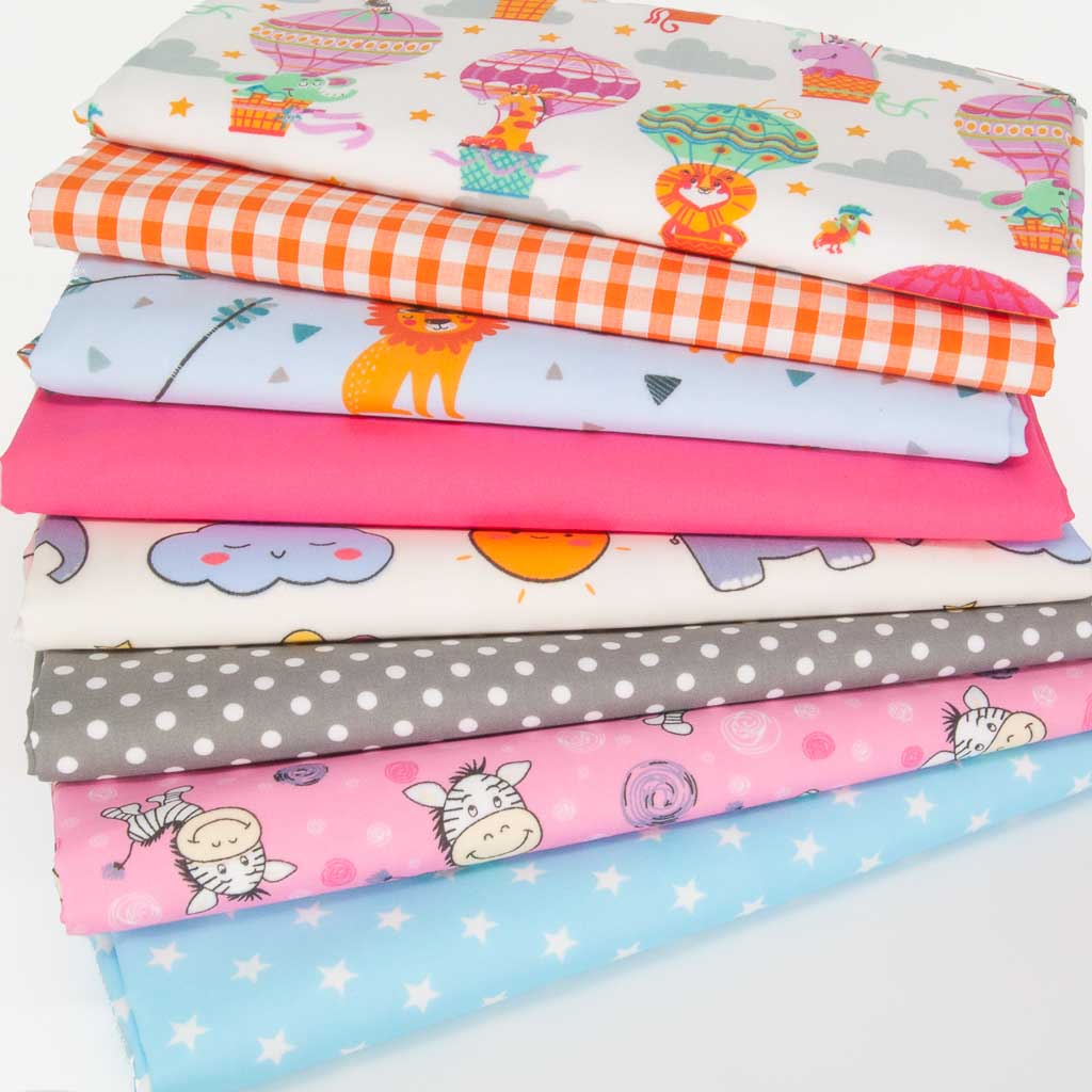 Fat Quarter Bundle - Nursery Animals