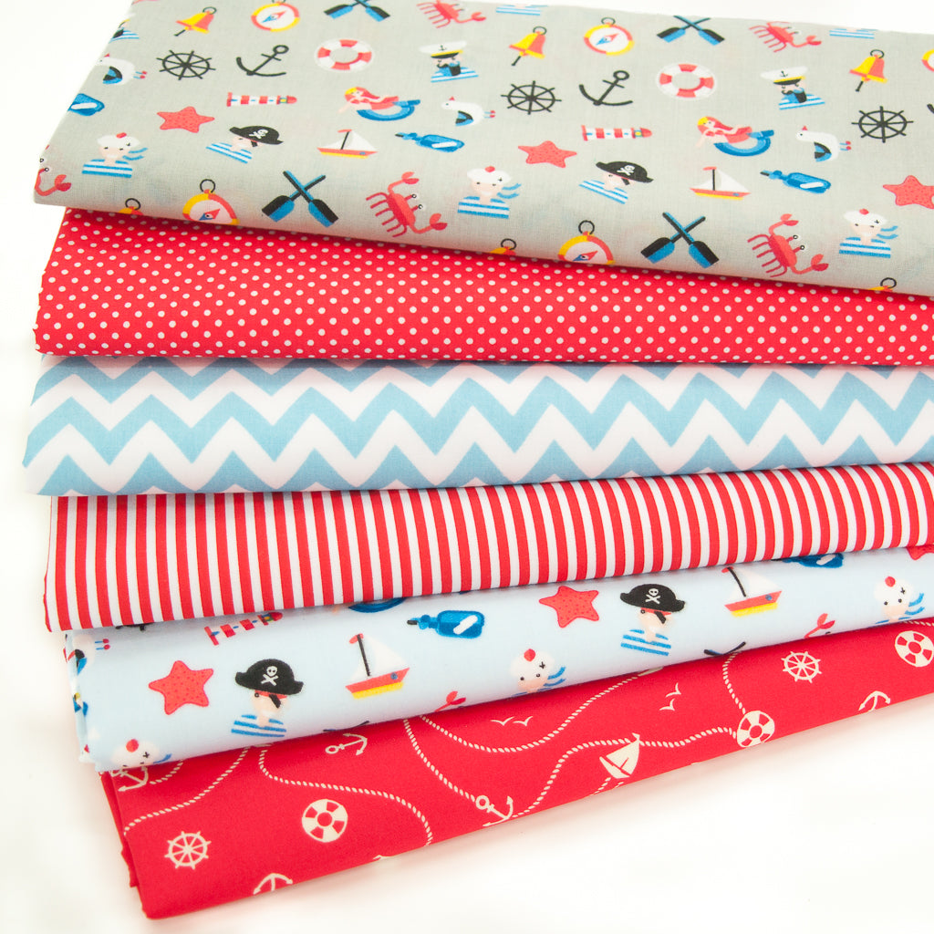 Fat Quarter Bundle of 6 - Pirate Adventure