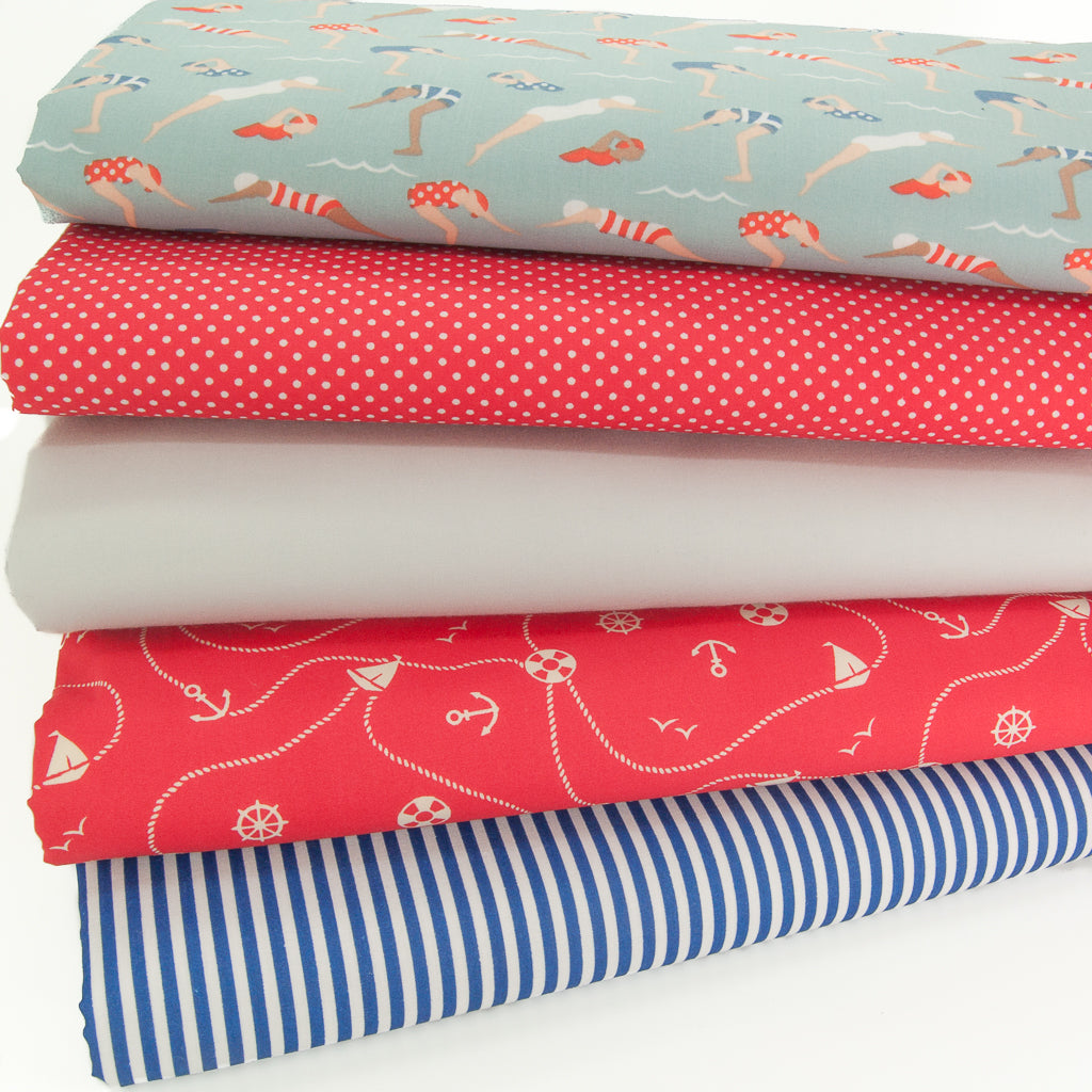 Fat Quarter Bundle - Swimmers - Polycotton Bundle