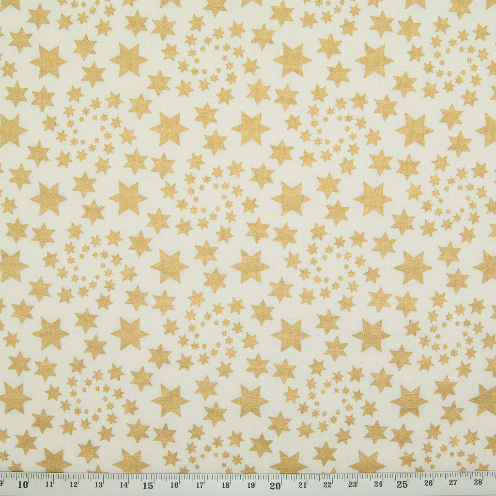 Christmas Star - 100% Cotton - Gold