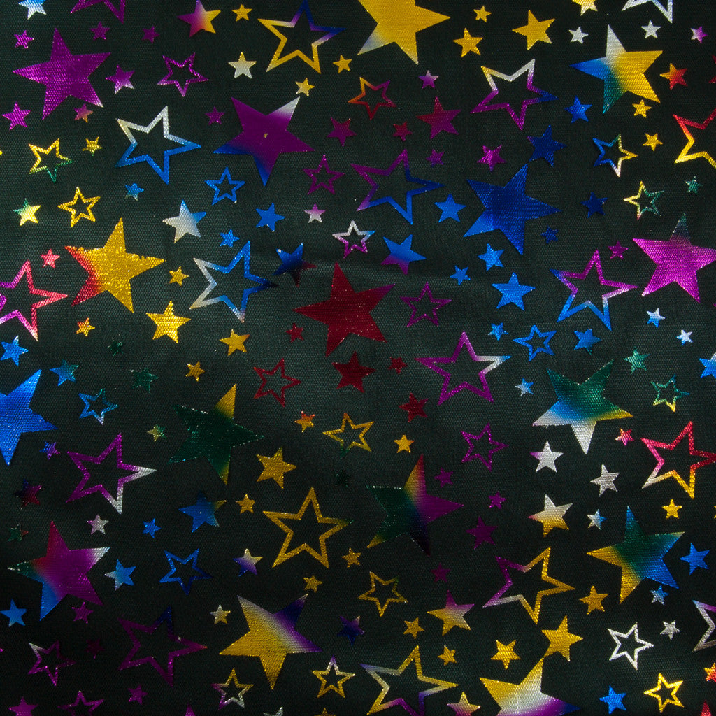 Shiny Multicoloured Stars Net
