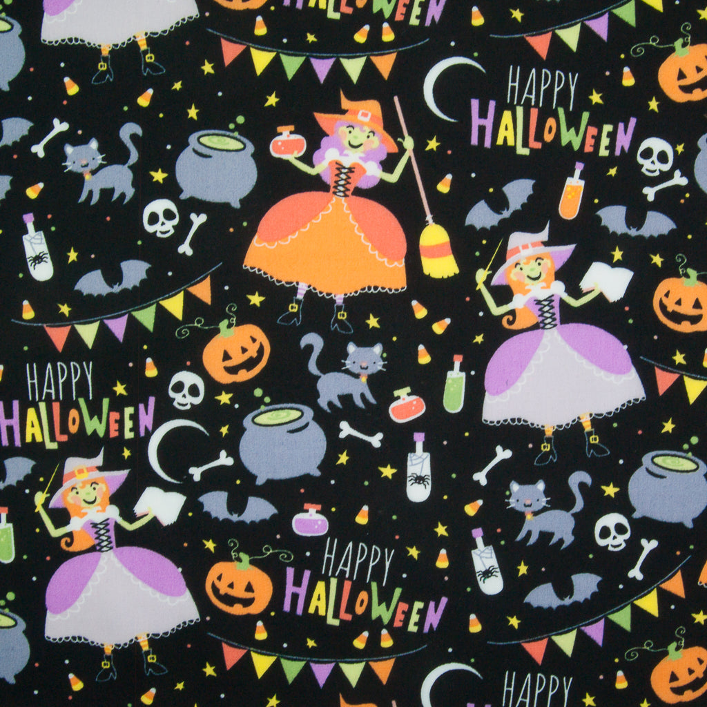 Happy Halloween -  100% Cotton Fabric