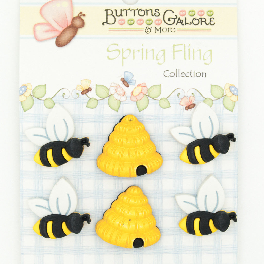 Honey to the Bee - Buttons - Pack of 6