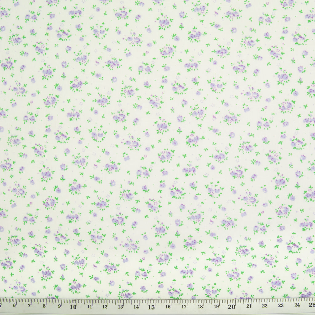 Fat Quarter Bundle of 5 - Lilac Vintage Florals