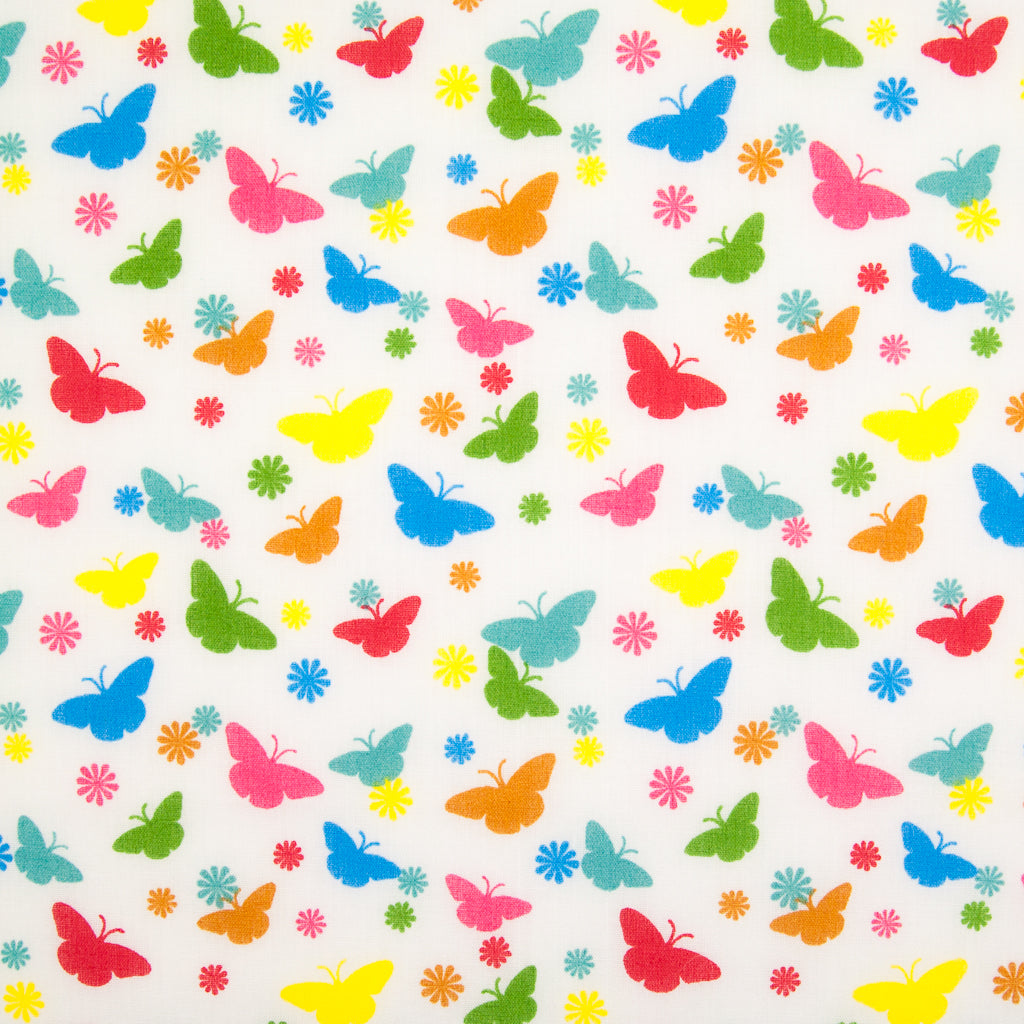 Mini Butterflies - Polycotton Fabric