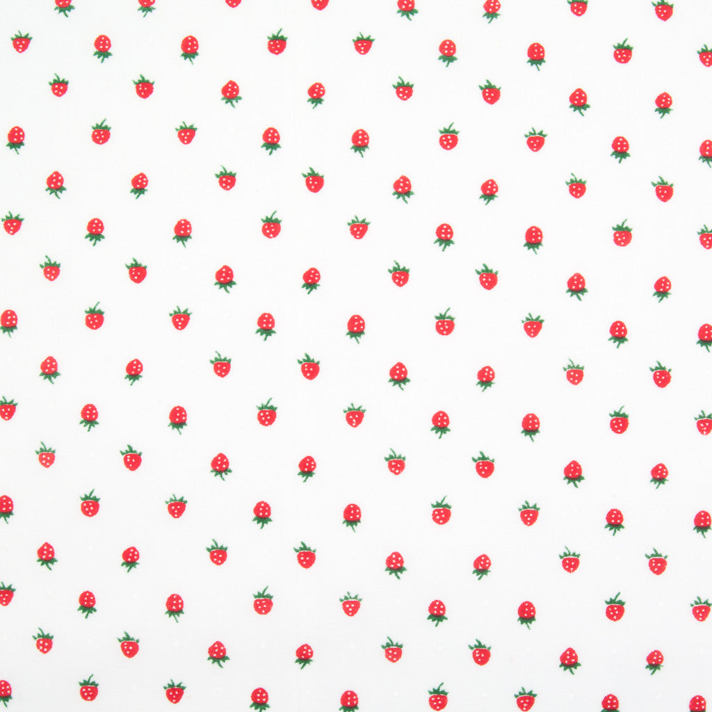Mini Strawberries - Polycotton Fabric