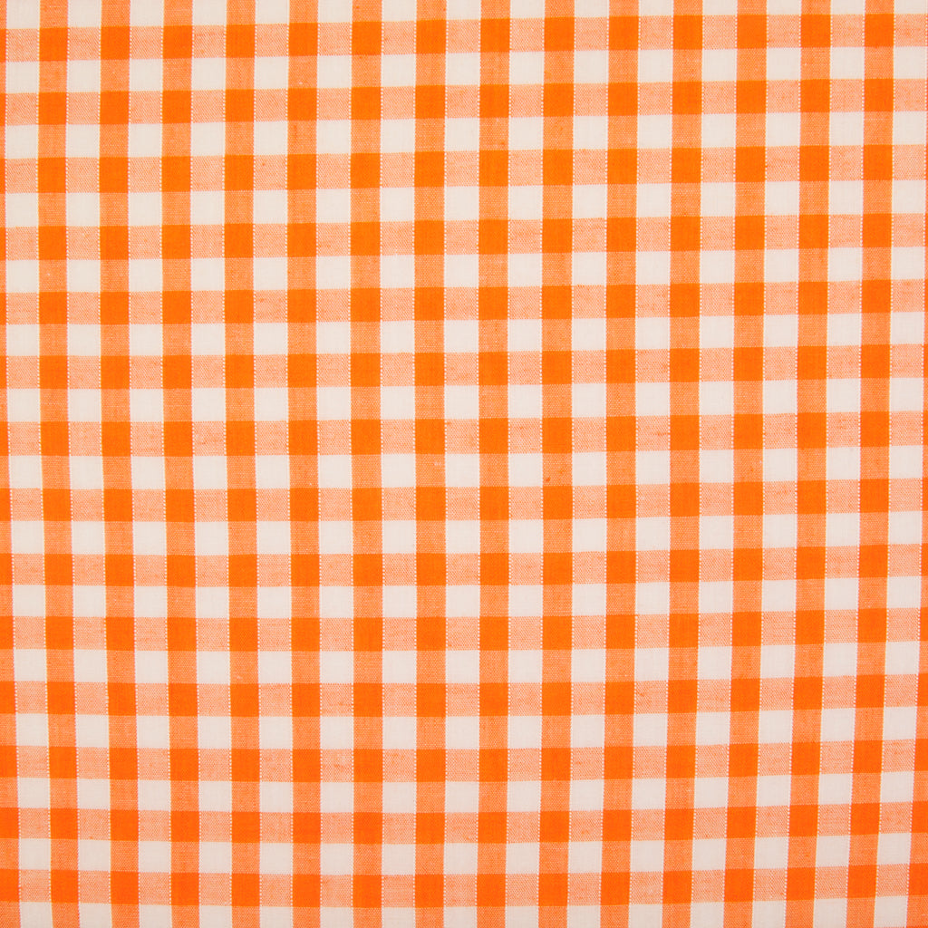 "1/4"" Corded Gingham Check - Orange"