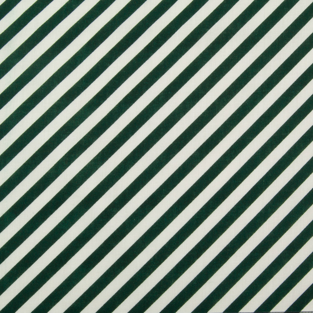 Green & White Diagonal Candy Stripe - Christmas Polycotton