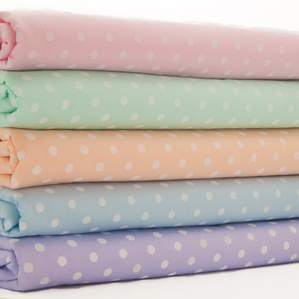 Pastel Pea Spot - Polycotton Bundle