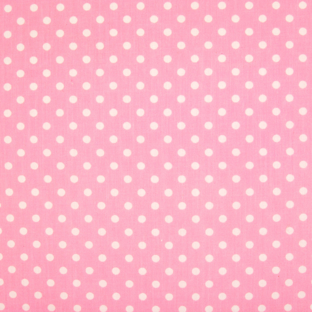 Pea Spot - 4mm White Spots on Pink