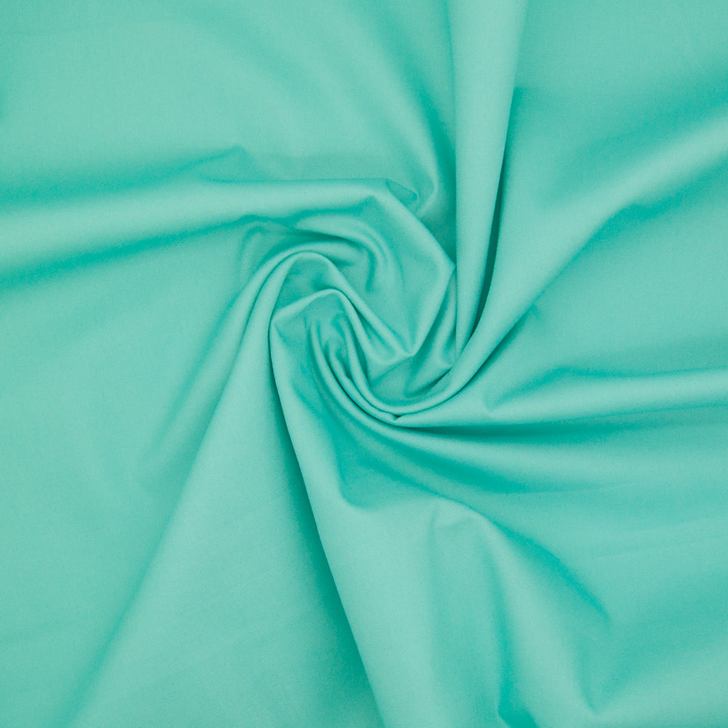 100% Cotton Poplin Plain - Aqua