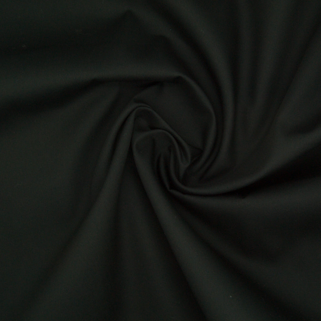 100% Cotton Poplin Plain - Black