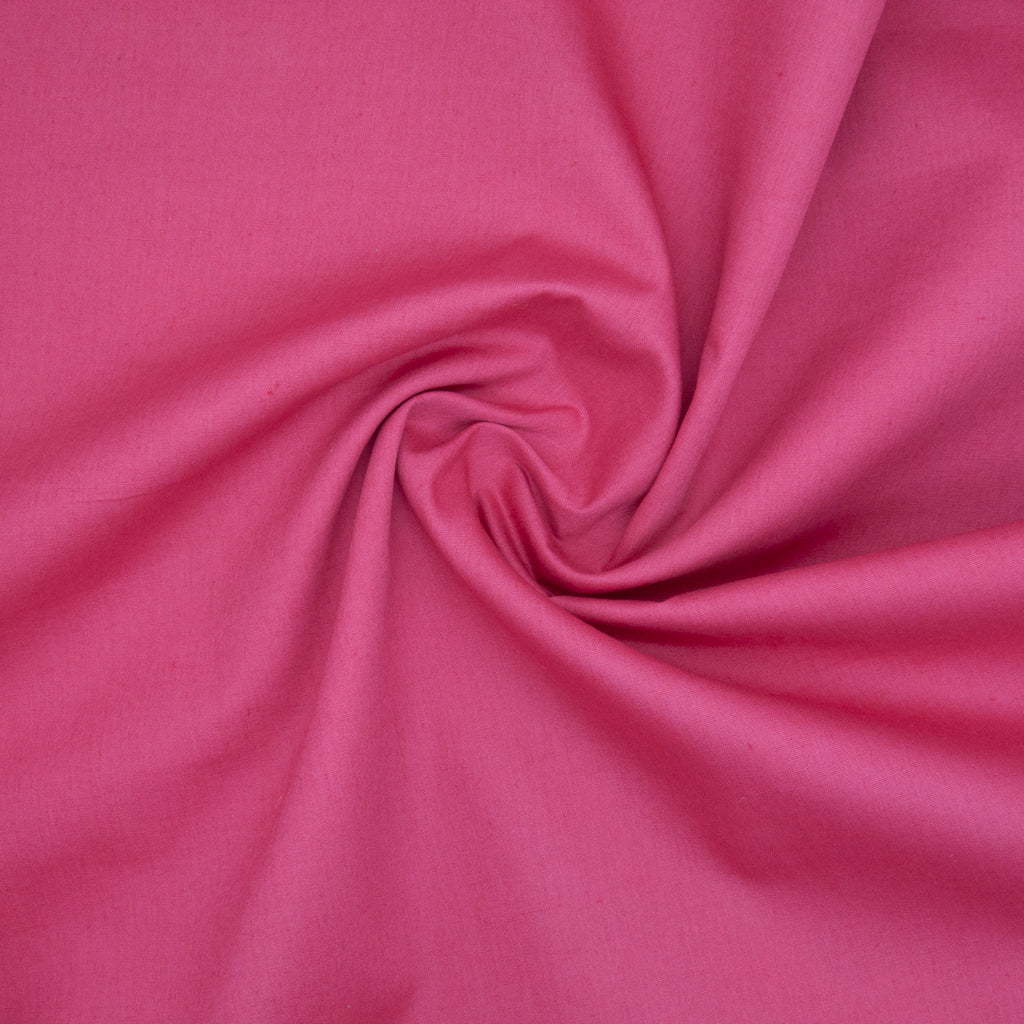 100% Cotton Poplin Plain - Cerise