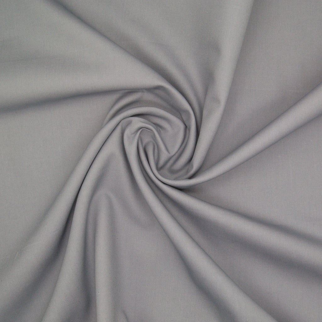 100% Cotton Poplin Plain - Grey