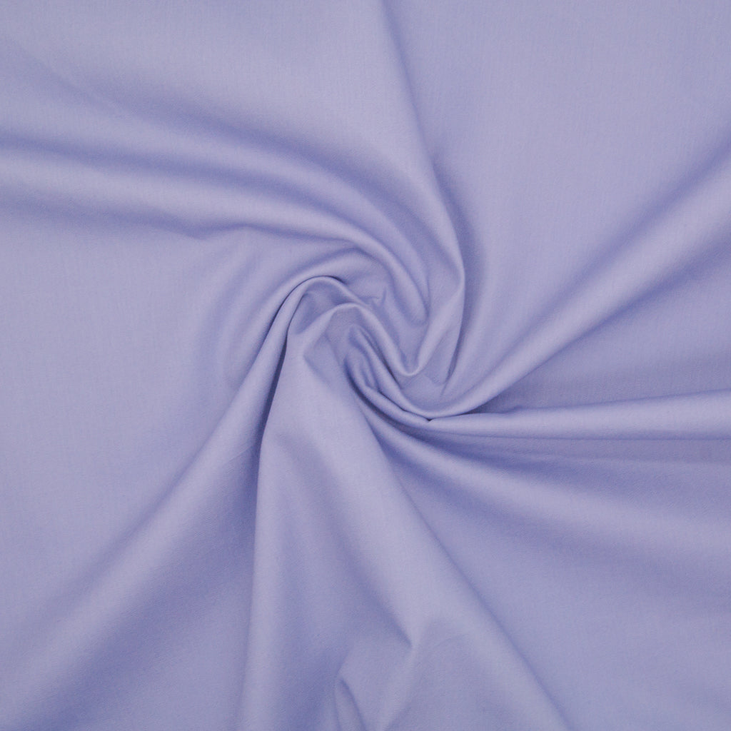 100% Cotton Poplin Plain - Lilac