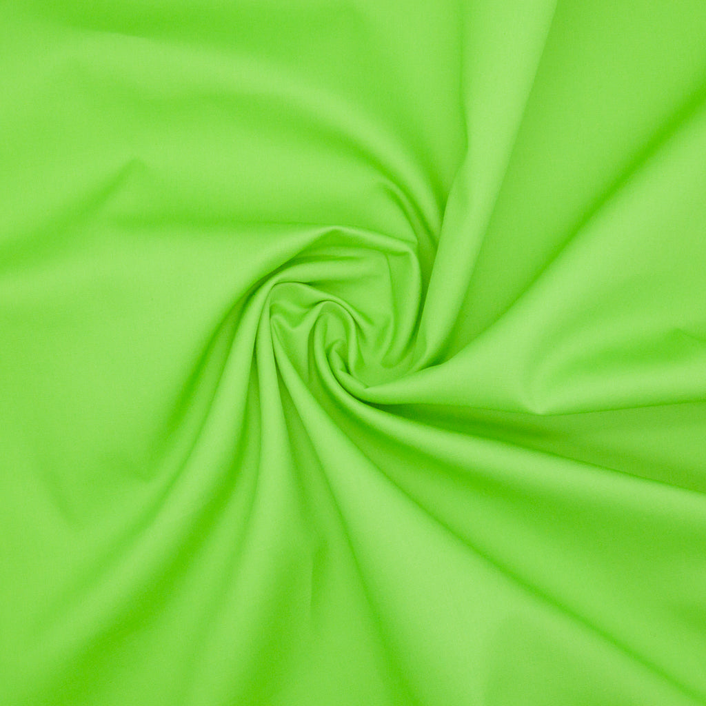 100% Cotton Poplin Plain - Lime Green