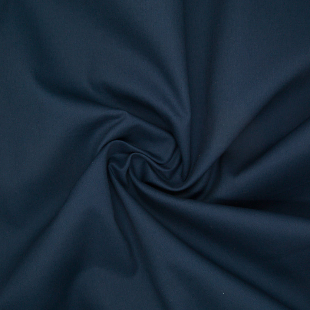 100% Cotton Poplin Plain - Navy Blue