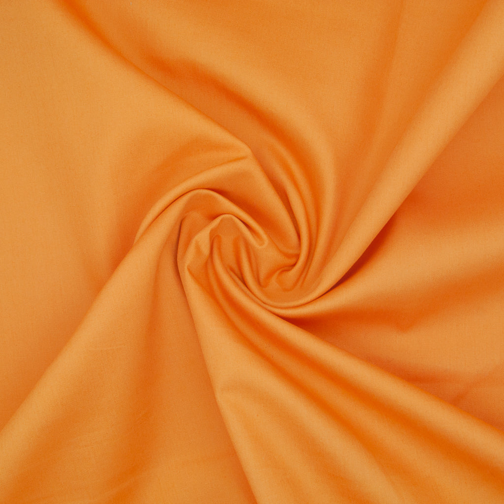 100% Cotton Poplin Plain - Orange