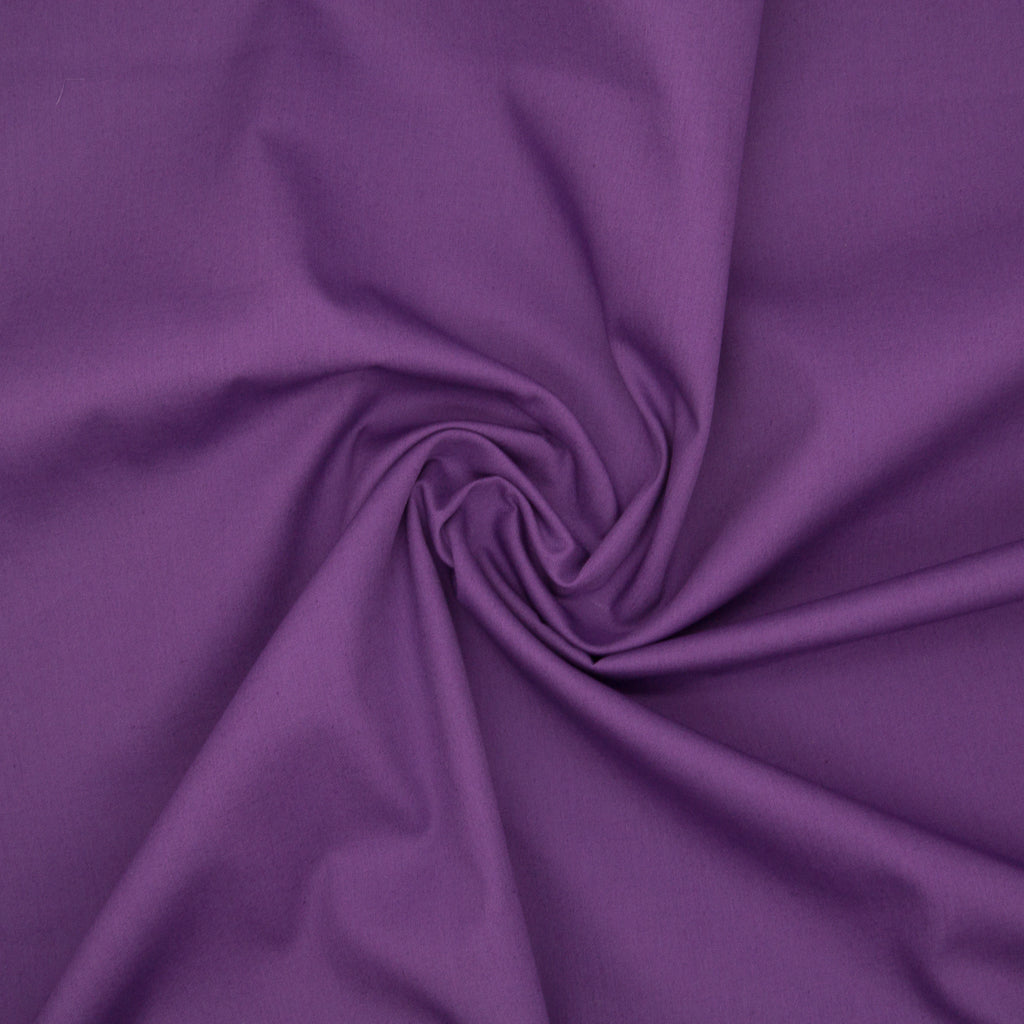 100% Cotton Poplin Plain - Purple
