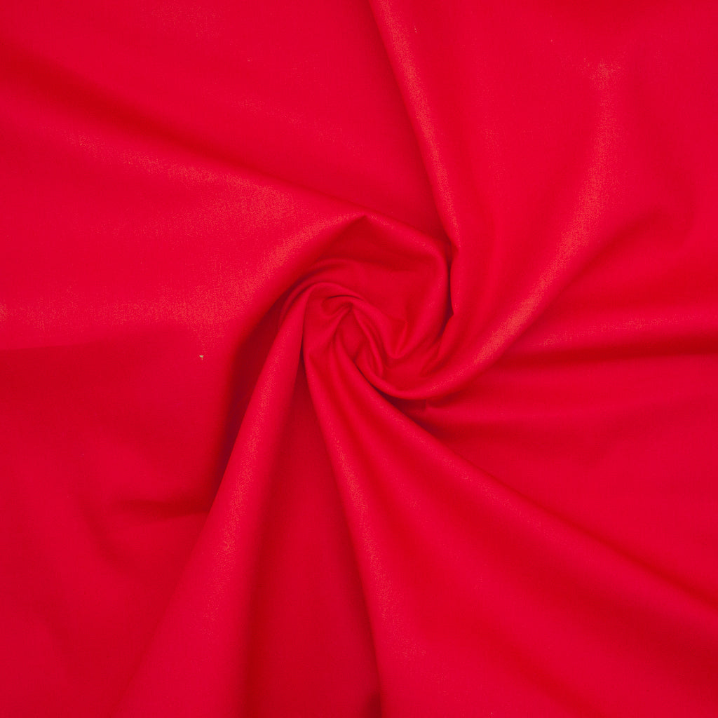 100% Cotton Poplin Plain - Red