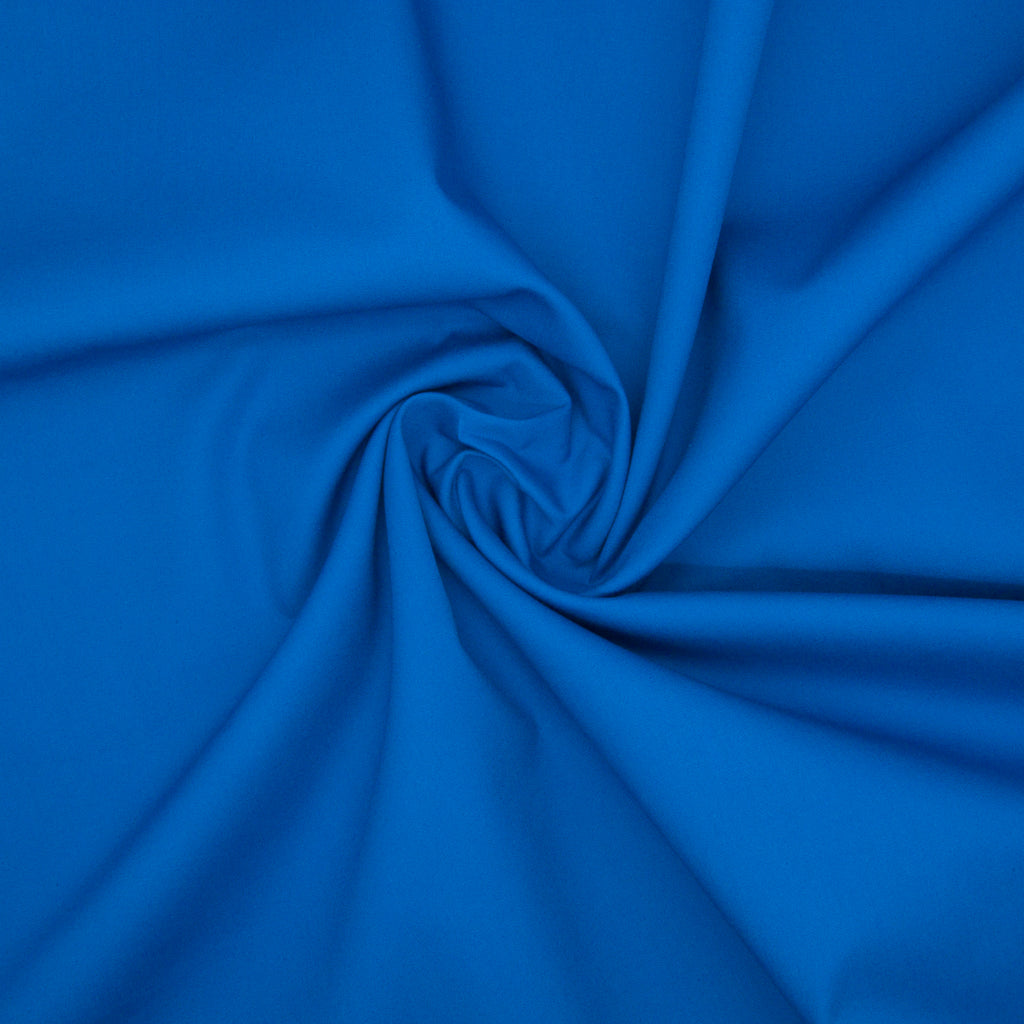 100% Cotton Poplin Plain - Royal Blue