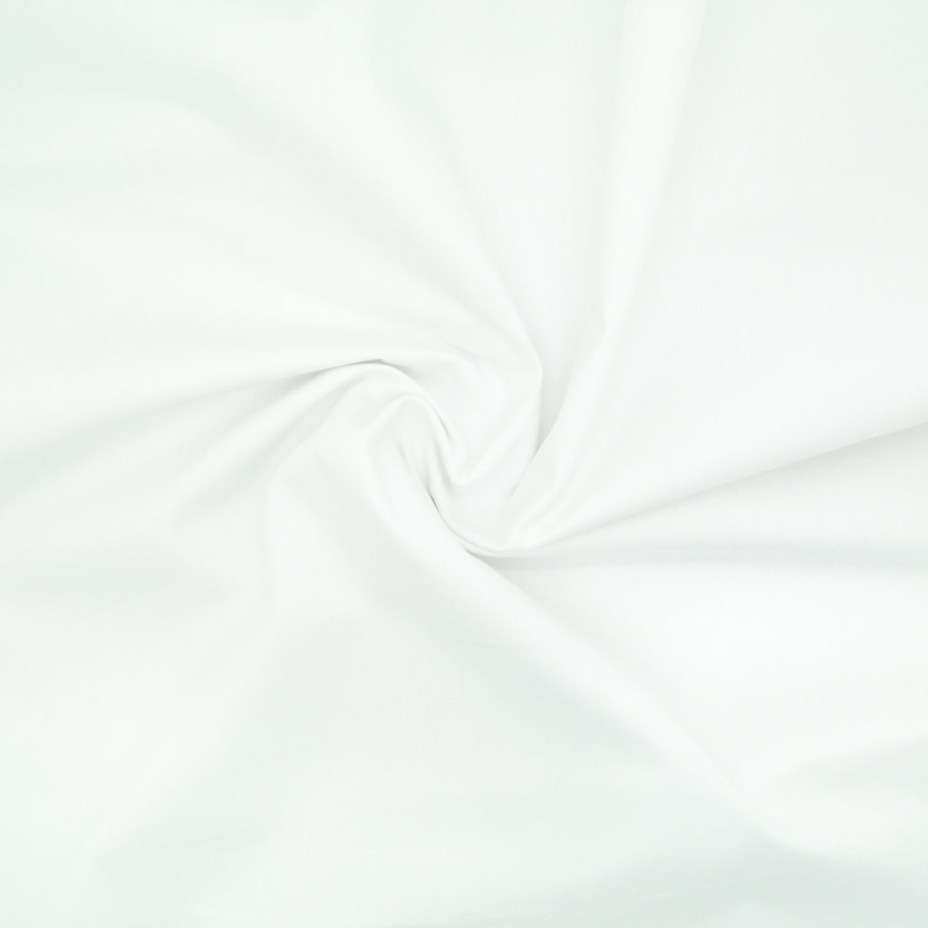 100% Cotton Poplin Plain - White