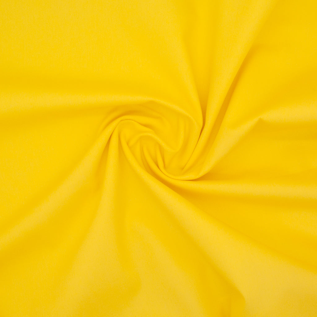 100% Cotton Poplin Plain - Yellow