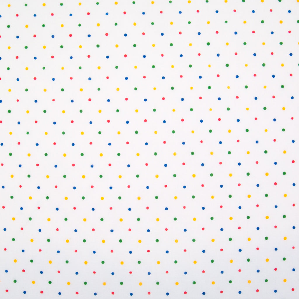 2mm Tiny Rainbow Spot - Polycotton Fabric