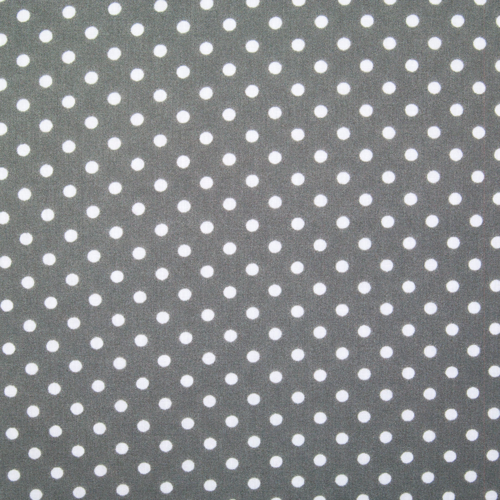 Pea Spot - 4mm White Spots on Grey