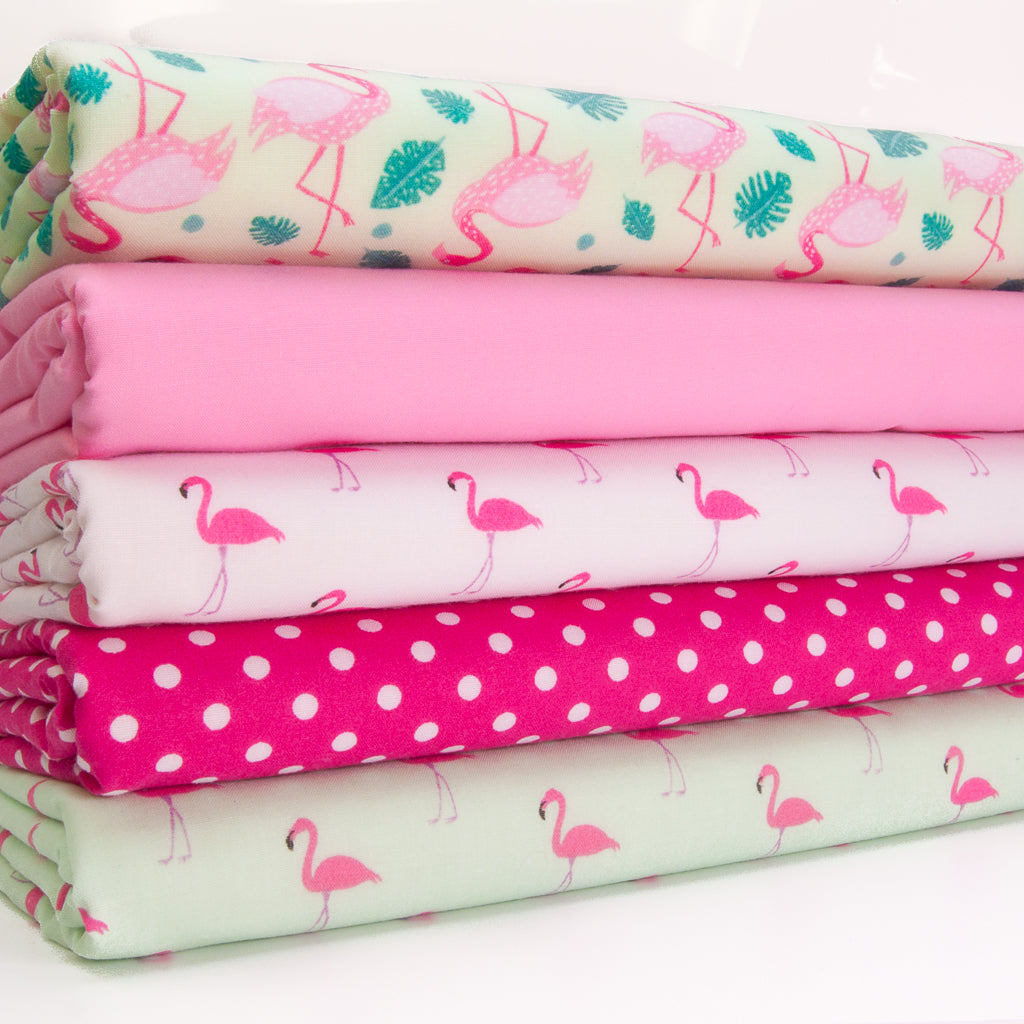 Mint & Pink Flamingos - Fat Quarter Bundle