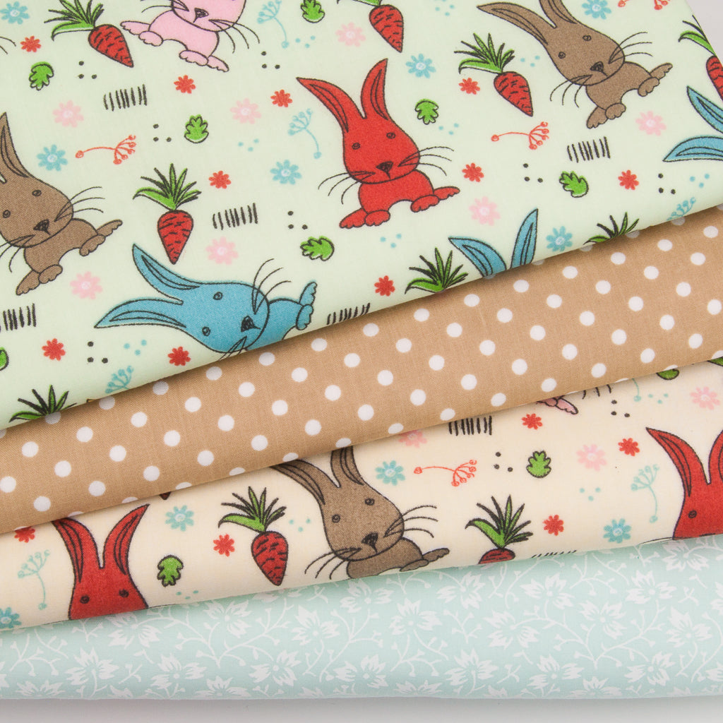 Rabbits & Carrots - Polycotton Bundle