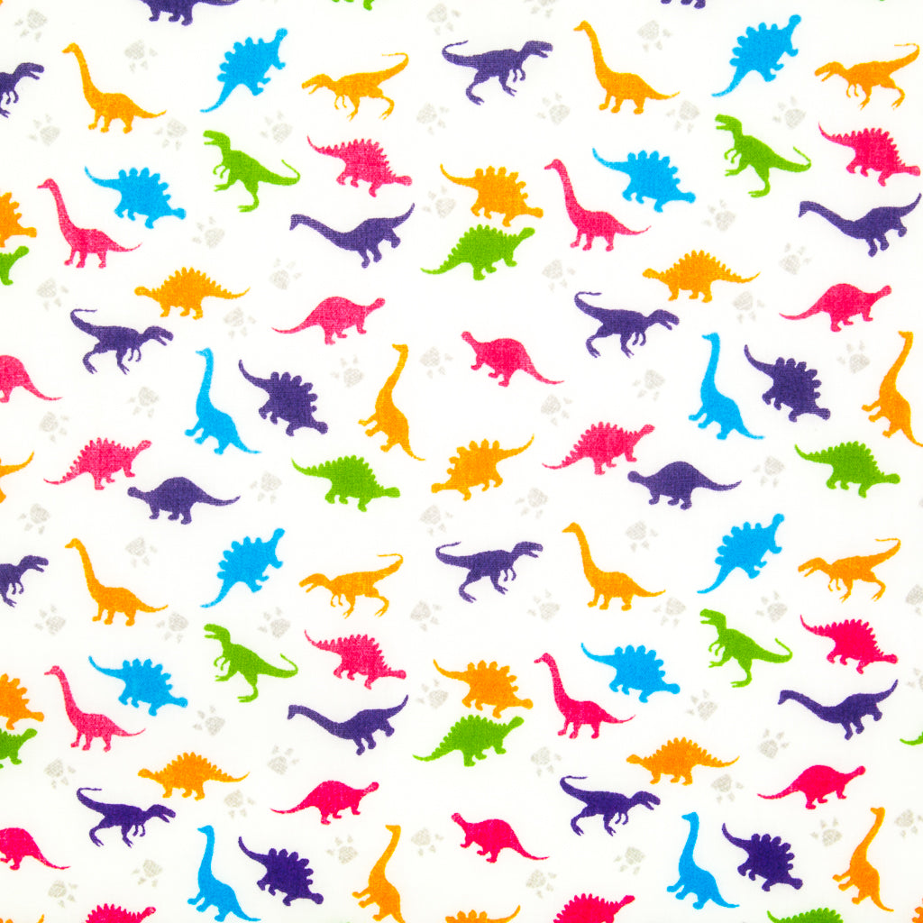 Mini Dinosaurs - Polycotton Fabric