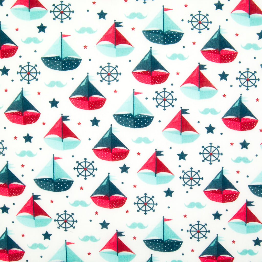 Sailing Boats - Polycotton Fabric