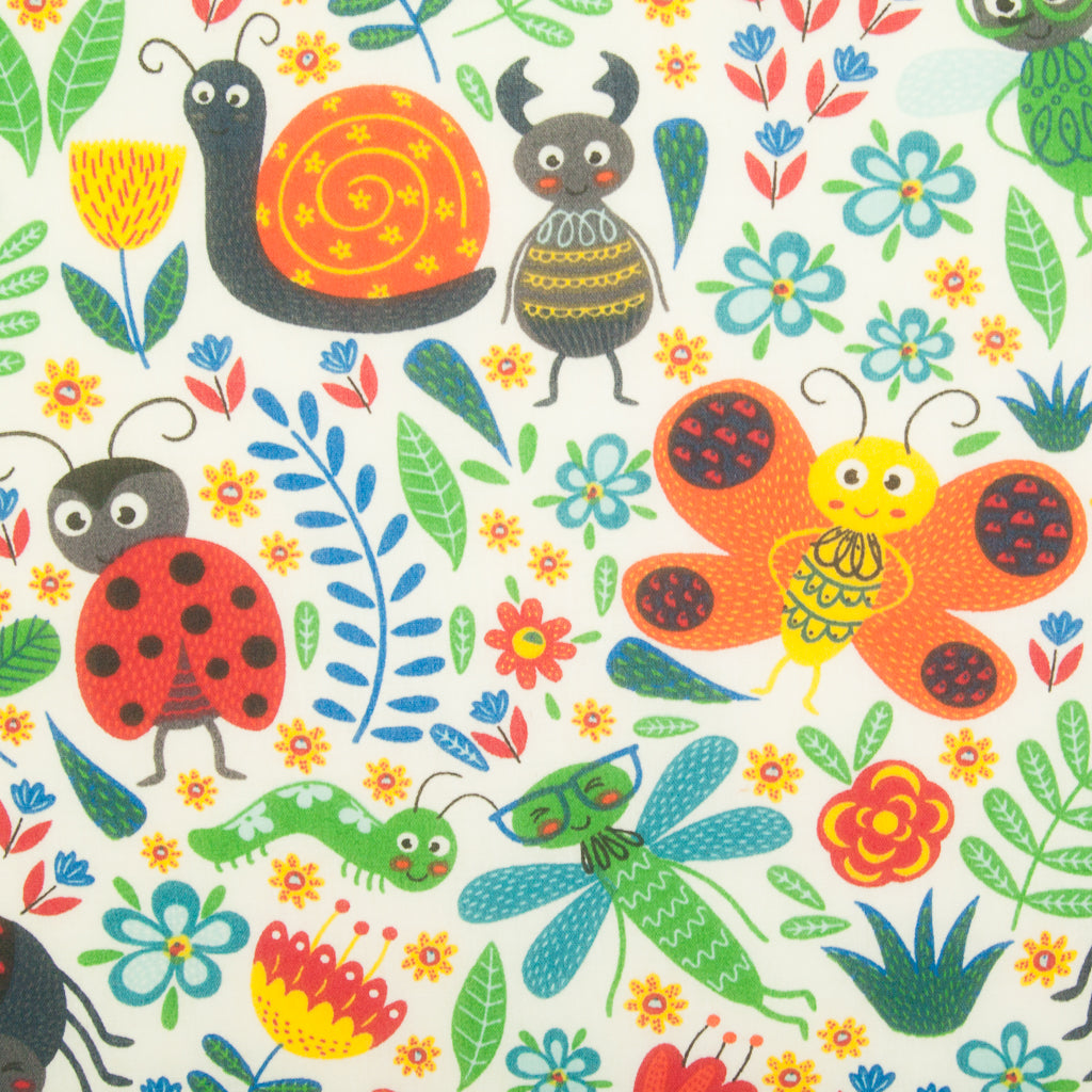 Minibeasts - Polycotton Fabric