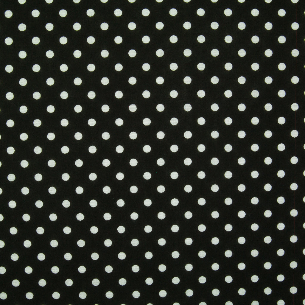 Pea Spot - 4mm White Spots on Black