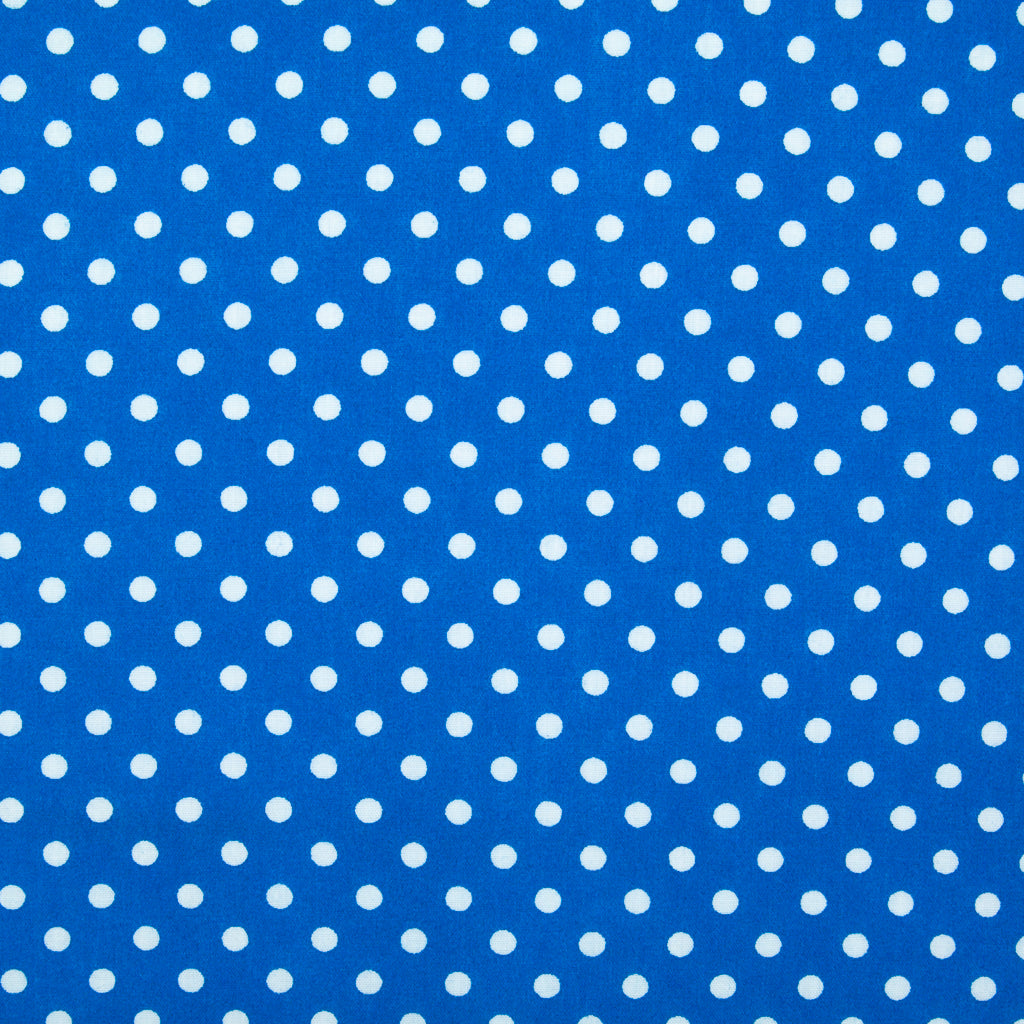 Pea Spot - 4mm White Spots on Royal Blue