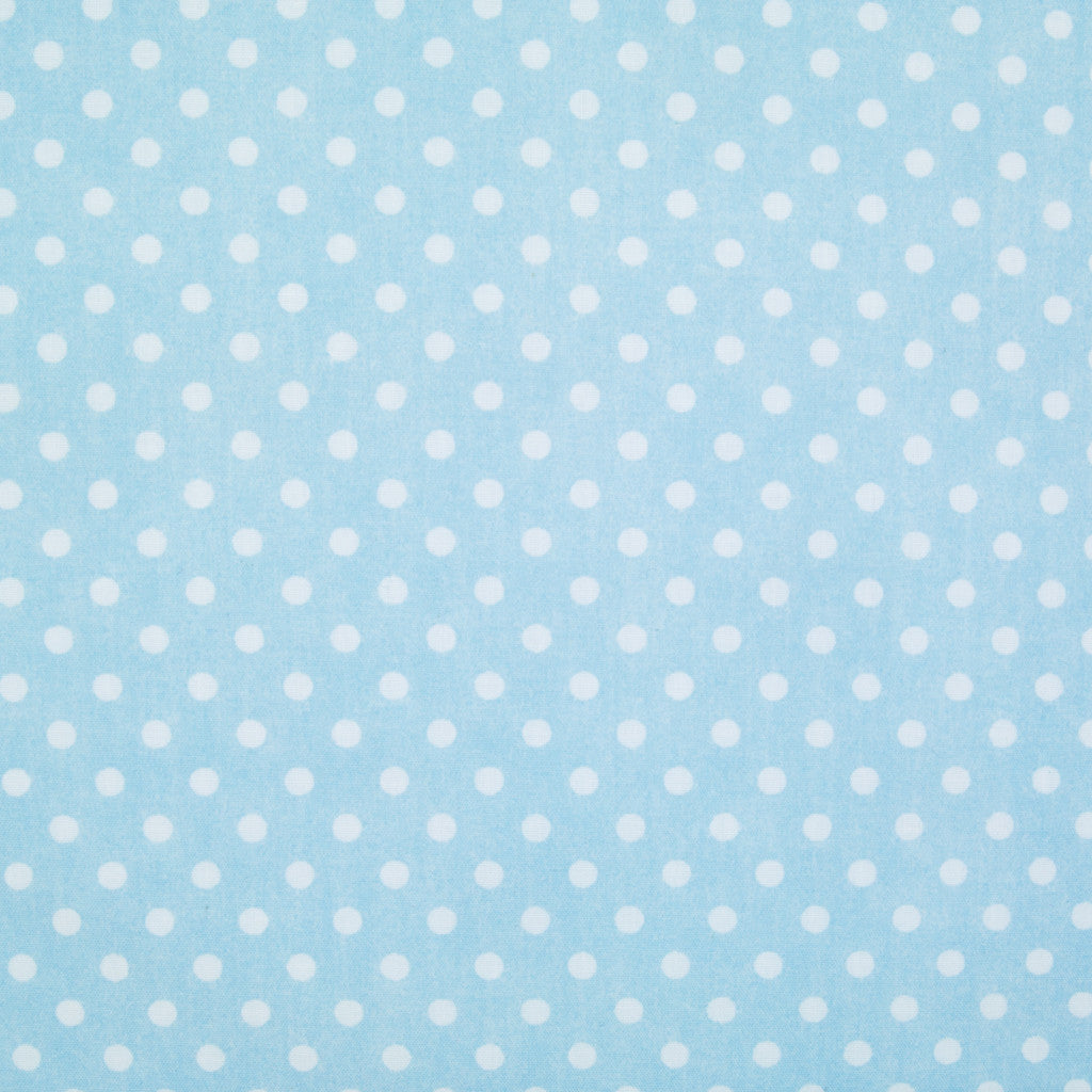 Pea Spot - 4mm White Spots on Pale Blue