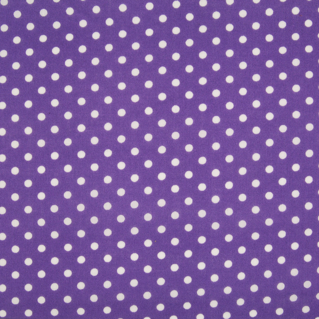 Pea Spot - 4mm White Spots on Purple