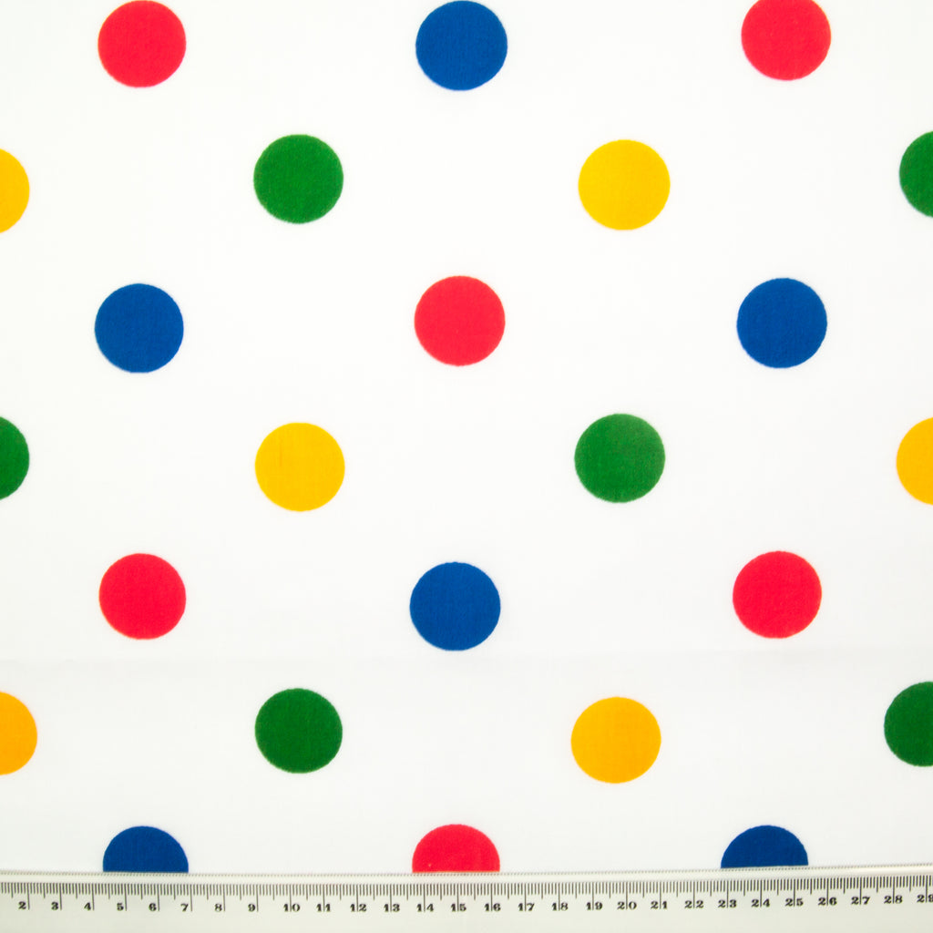 25mm Large Rainbow Spot - Polycotton Fabric