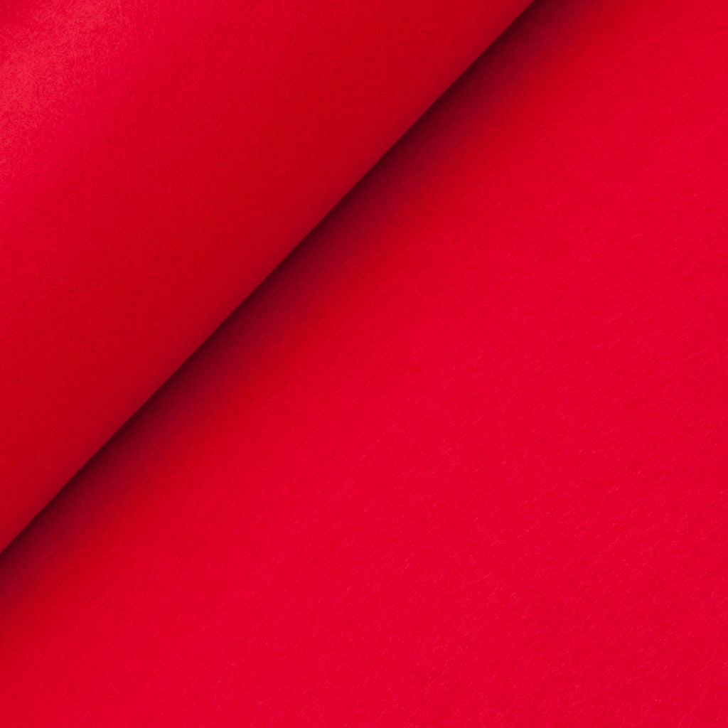 Acrylic Felt - Red - Cut from Roll