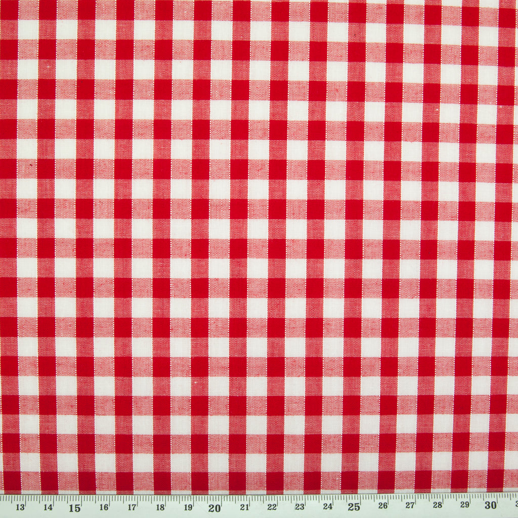 "1/4"" Corded Gingham Check - Red"