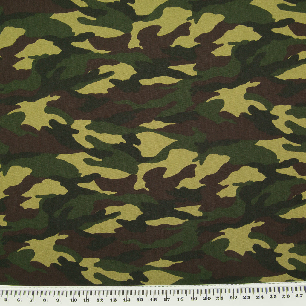 Jungle Camouflage by Rose & Hubble - 100% Cotton Poplin