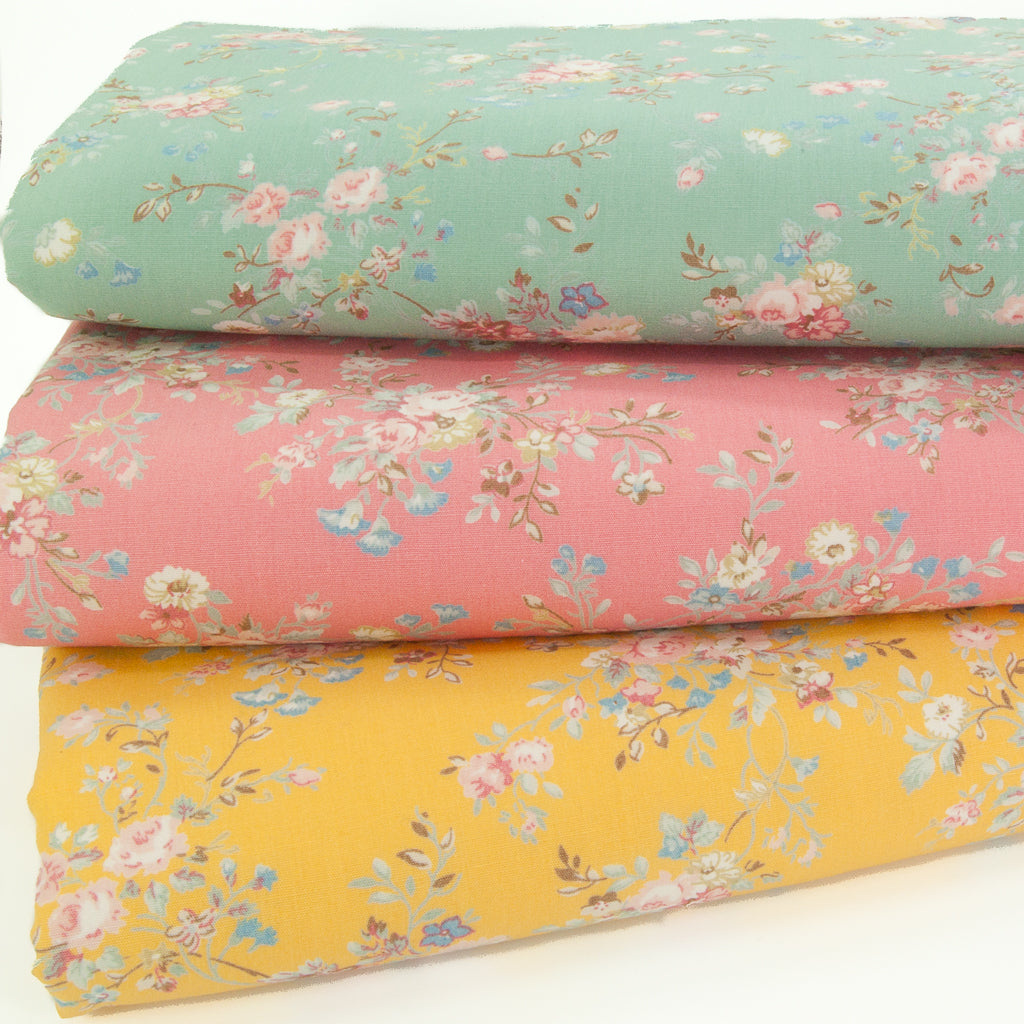 Floral Spray Trio - 100% Cotton Fat Quarter Bundle by Rose & Hubble