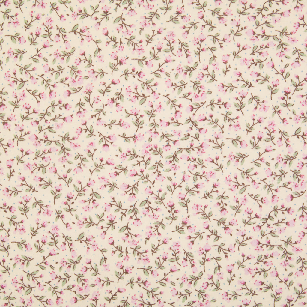 Rose & Hubble Pink Ditsy Floral -  100% Cotton Poplin