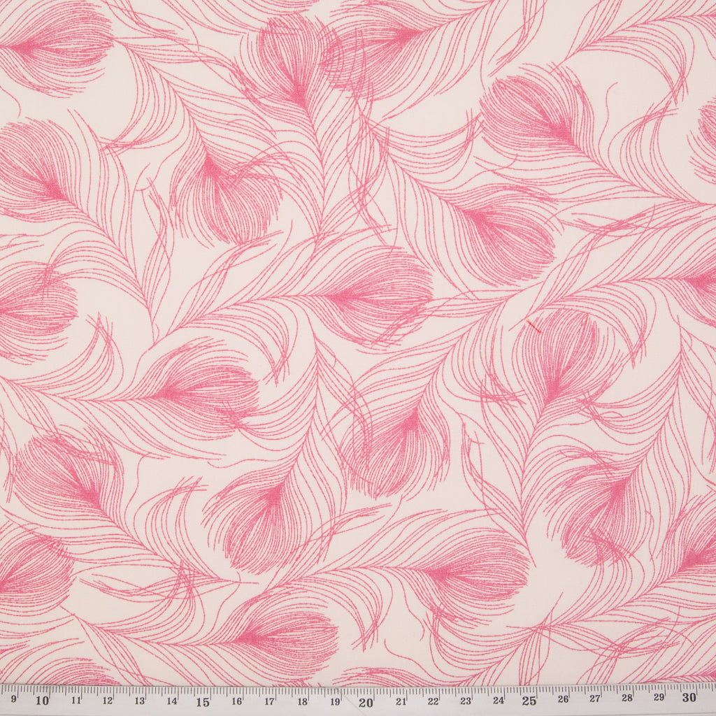 Feather by Rose & Hubble - 100% Cotton Poplin - Pink