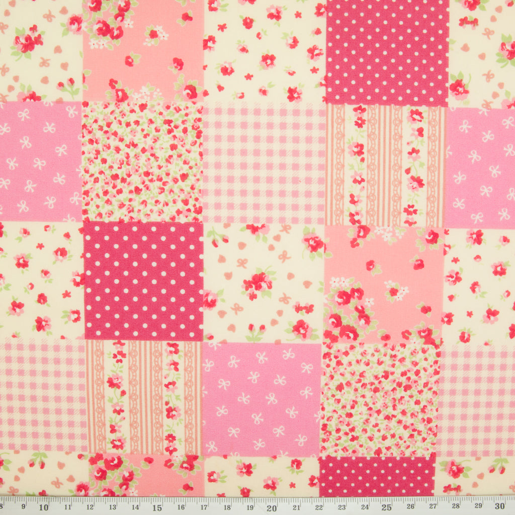 Rose & Hubble Pink Patchwork Bundle - 5 x Fat Quarters - 100% Cotton
