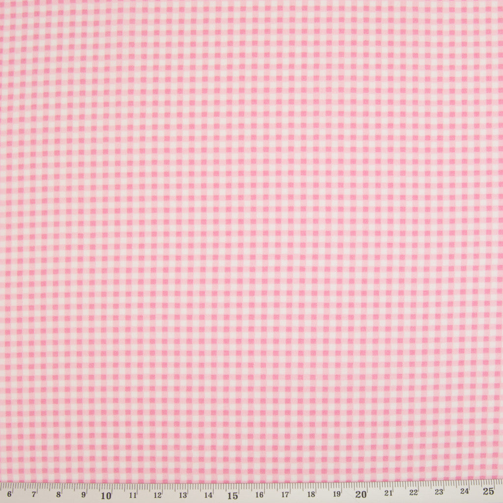 Rose & Hubble Pink Mini Check -  100% Cotton Poplin