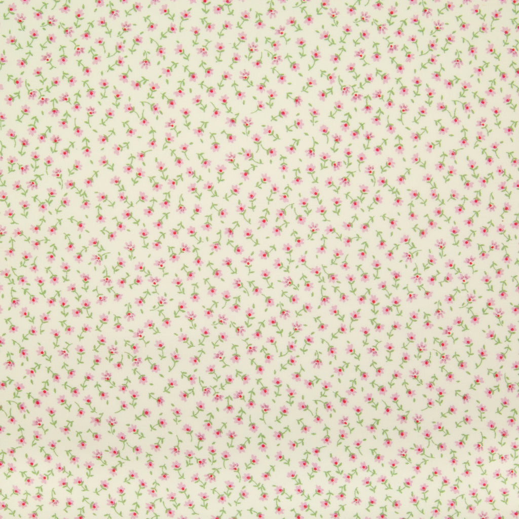 Rose & Hubble - Ditsy Betsy Floral in Pink - 100% Cotton Poplin