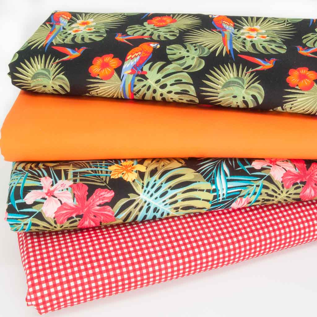 Fat Quarter Bundle - Rose & Hubble Tropical - Cotton Fabric